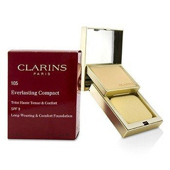 CLARINS EVERLASTING COMPACT FOUNDATION SPF 9 - # 105 NUDE  10G/0.3OZ