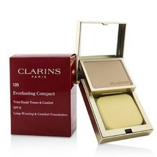 CLARINS EVERLASTING COMPACT FOUNDATION SPF 9 - # 109 WHEAT  10G/0.3OZ