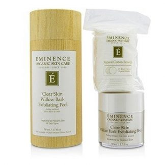 EMINENCE CLEAR SKIN WILLOW BARK EXFOLIATING PEEL (WITH 35 DUAL-TEXTURED COTTON ROUNDS)  50ML/1.7OZ