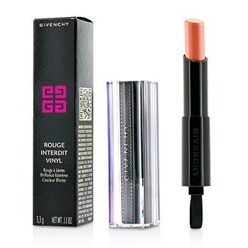 GIVENCHY ROUGE INTERDIT VINYL EXTREME SHINE LIPSTICK - # 02 BEIGE INDECENT  3.3G/0.11OZ