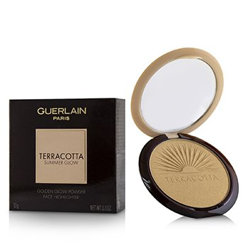 GUERLAIN TERRACOTTA SUMMER GLOW FACE HIGHLIGHTER POWDER - # GOLDEN GLOW  10G/0.3OZ