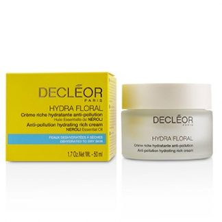 DECLEOR HYDRA FLORAL NEROLI ANTI-POLLUTION HYDRATING RICH CREAM - DEHYDRATED TO DRY SKIN  50ML/1.7OZ
