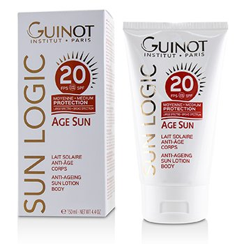 GUINOT SUN LOGIC AGE SUN ANTI-AGEING SUN LOTION FOR BODY SPF 20  150ML/4.4OZ