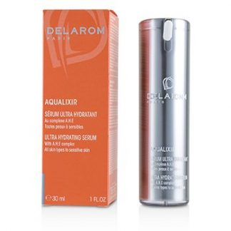 DELAROM AQUALIXIR ULTRA HYDRATING SERUM - FOR ALL SKIN TYPES TO SENSITIVE SKIN  30ML/1OZ