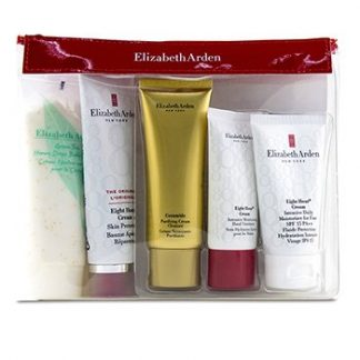 ELIZABETH ARDEN DAILY BEAUTY ESSENTIALS SET: PURIFYING CREAM CLEANSER+ EIGHT HOUR CREAM+ EIGHT HOUR CREAM SPF 15+ EI  5PCS