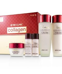 3W CLINIC 3W CLINIC COLLAGEN SKIN CARE SET: SOFTENER 150ML + EMULSION 150ML + CREAM 60ML + SOFTENER 30ML + EMULSION 30ML  5PCS