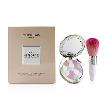 GUERLAIN METEORITES TRAVELLING COMPACT LIGHT REVEALING POWDER AND BRUSH - (2 CLAIR/LIGHT)  2PCS