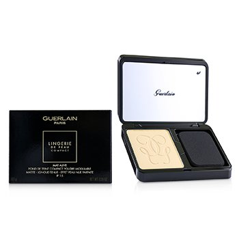 GUERLAIN LINGERIE DE PEAU MAT ALIVE BUILDABLE COMPACT POWDER FOUNDATION SPF 15 - # 03N NATURAL  8.5G/0.29OZ