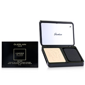 GUERLAIN LINGERIE DE PEAU MAT ALIVE BUILDABLE COMPACT POWDER FOUNDATION SPF 15 - # 02C LIGHT COOL  8.5G/0.29OZ