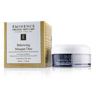 EMINENCE BALANCING MASQUE DUO: CHARCOAL T-ZONE PURIFIER & POMELO CHEEK TREATMENT - FOR COMBINATION SKIN TYPES  60ML/2OZ
