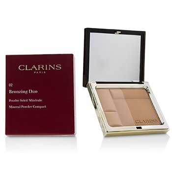 CLARINS BRONZING DUO MINERAL POWDER COMPACT - # 02 MEDIUM  10G/0.35OZ