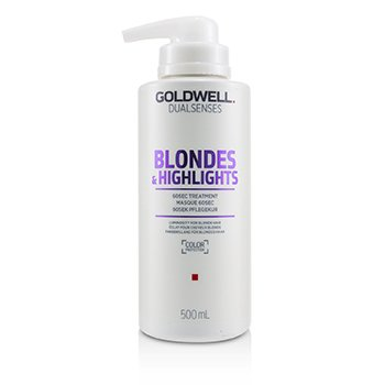 GOLDWELL DUAL SENSES BLONDES & HIGHLIGHTS 60SEC TREATMENT (LUMINOSITY FOR BLONDE HAIR)  500ML/16.9OZ