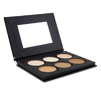 BELLAPIERRE COSMETICS CONTOUR & HIGHLIGHT PRO PALETTE (6X CONTOUR & HIGHLIGHT)  17.28G/0.6OZ