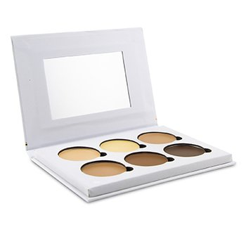 BELLAPIERRE COSMETICS CONTOUR & HIGHLIGHT CREAM PALETTE (6X CONTOUR & HIGHLIGHT)  24G/0.84OZ
