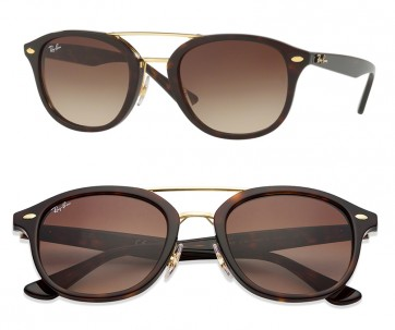 RAYBAN HIGHSTREET SUNGLASSES RB2183 122513 TORTOISE BROWN GRADIENT 53MM 