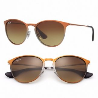 RAYBAN ERIKA METAL SUNGLASSES RB3539 193/13 BROWN GRADIENT 54MM 