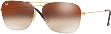RAYBAN RB3603 001/S0 GOLD 56MM BROWN GRADIENT SUNGLASSES 