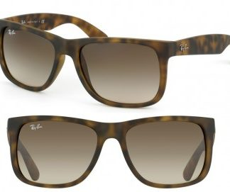 RAYBAN ITALY JUSTIN SUNGLASSES RB4165 710/13 LIGHT HAVANA BROWN GRADIENT 55MM 