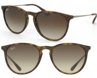 RAYBAN ITALY ERIKA SUNGLASSES RB4171 865/13 RUBBER HAVANA BROWN GRADIENT 54MM 