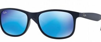 RAYBAN ITALY ANDY SUNGLASSES RB4202 615355 MATTE BLUE MIRROR 55MM 