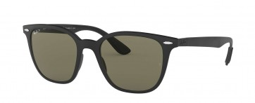 RAYBAN LITEFORCE SQUARE BLACK RB4297 601S9A POLARIZED GREEN 51MM SUNGLASSES 