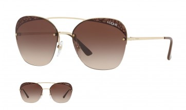 VOGUE METALLIC LACE VO4104S 848/13 LIGHT GOLD 57MM BROWN GRADIENT SUNGLASSES 