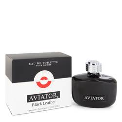 PARIS BLEU AVIATOR BLACK LEATHER EDT FOR MEN