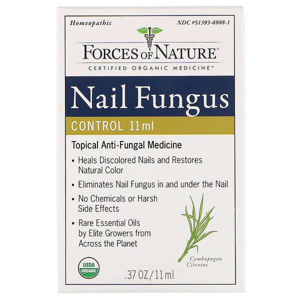 Forces of Nature, Nail Fungus Control, 0.37 oz (11 ml)
