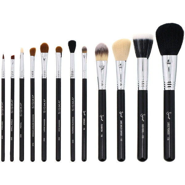 Sigma, Essential Brush Kit, 12 Piece Kit