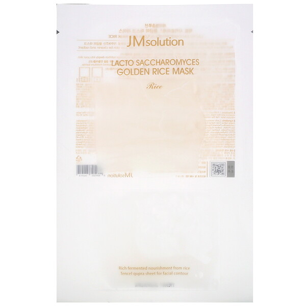JM Solution, Lacto Saccharomyces Golden Rice Mask, 1 Sheet, 30 ml