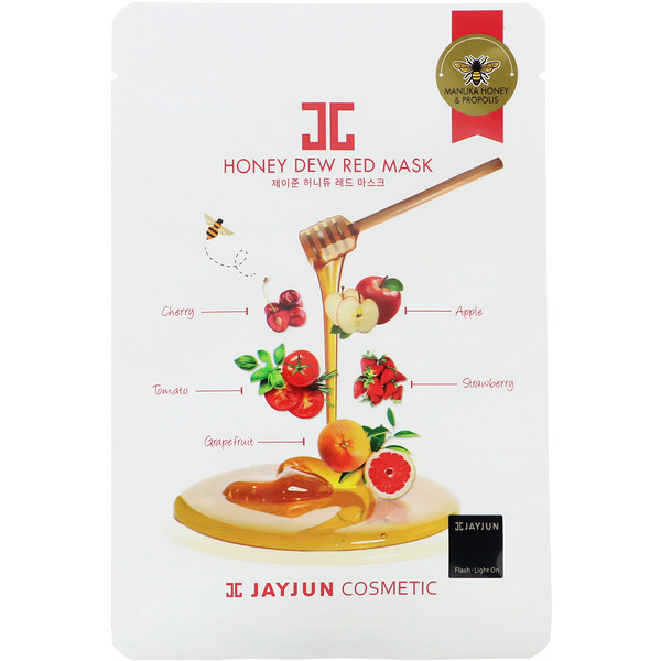 Jayjun Cosmetic, Honey Dew Red Mask, 1 Sheet, 25 ml