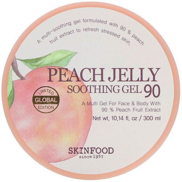 Skinfood, Peach Jelly, Soothing Gel 90, 10.14 fl oz (300 ml)