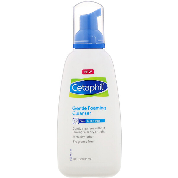 Cetaphil, Gentle Foaming Cleanser, 8 fl oz (236 ml)