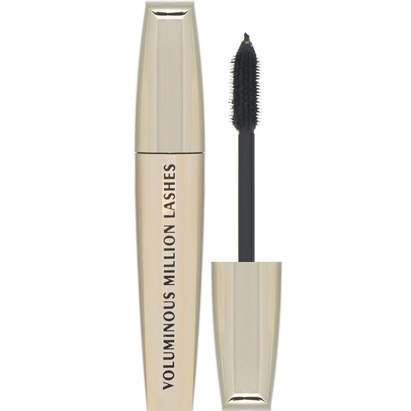 L'Oreal, Voluminous Million Lashes Mascara, 635 Blackest Black, 0.3 fl oz (9 ml)
