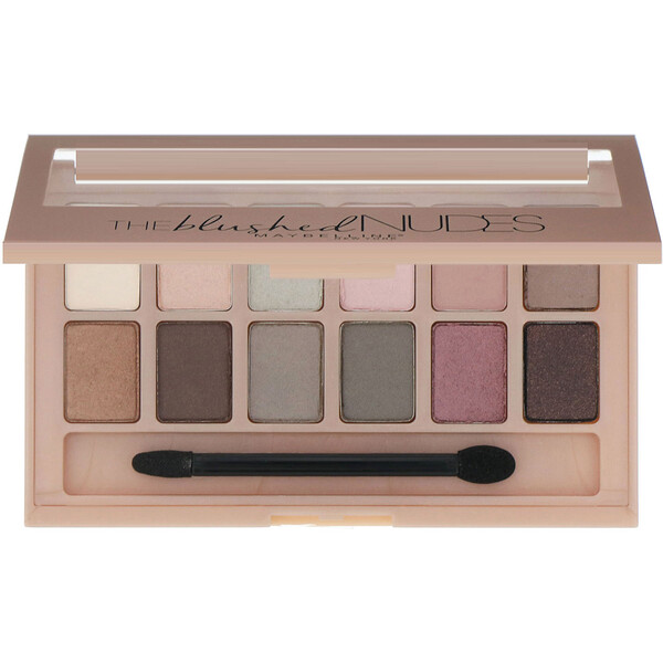 Maybelline, The Blushed Nudes Eyeshadow Palette, 0.34 oz (9.6 g)