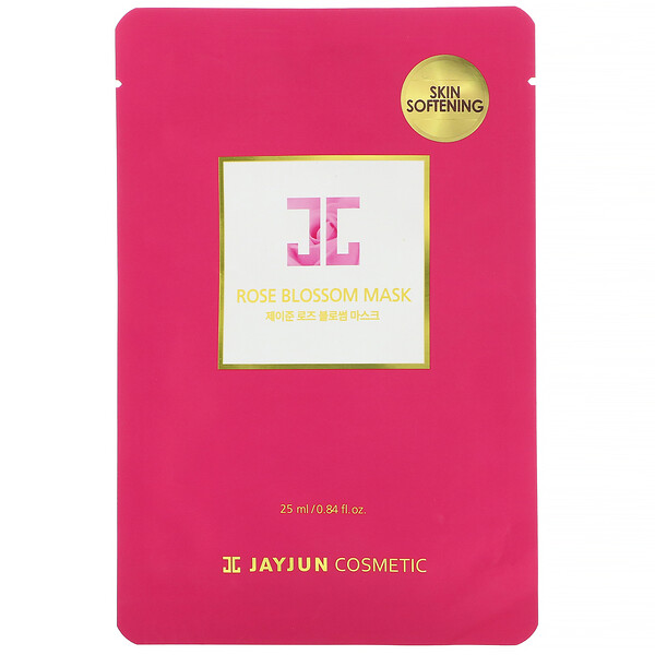 Jayjun Cosmetic, Rose Blossom Mask, 1 Sheet, 0.84 fl oz (25 ml)