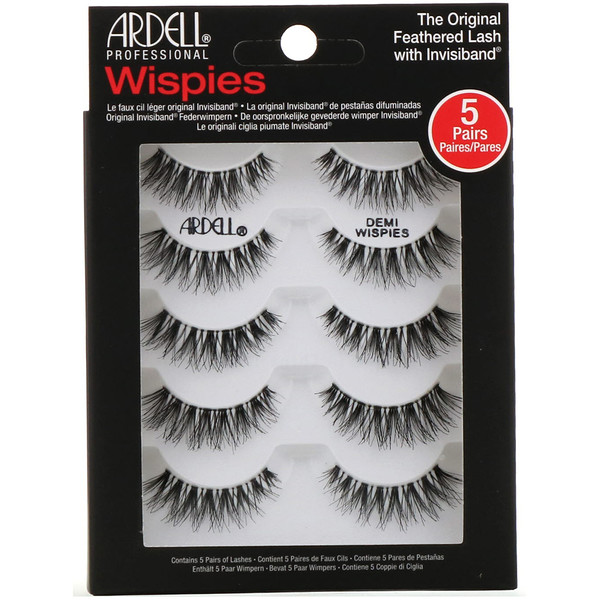 Ardell, Wispies, Original Feathered Lash With Invisiband, 5 Pairs