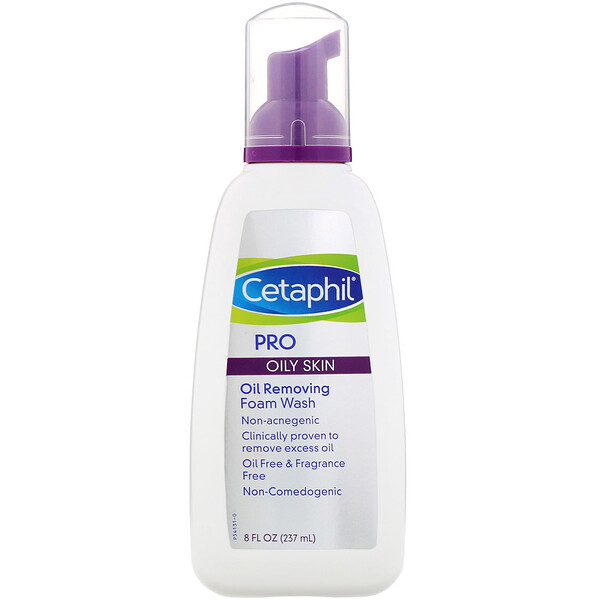 Cetaphil, Pro, Oil Removing Foam Wash, Oily Skin, 8 fl oz (237 ml)