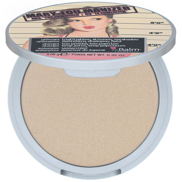 theBalm Cosmetics, Mary-Lou Manizer, Highlighter & Shadow, 0.32 oz (9.06 g)
