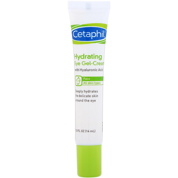 Cetaphil, Hydrating Eye Gel-Cream with Hyaluronic Acid, 0.5 fl oz (14 ml)
