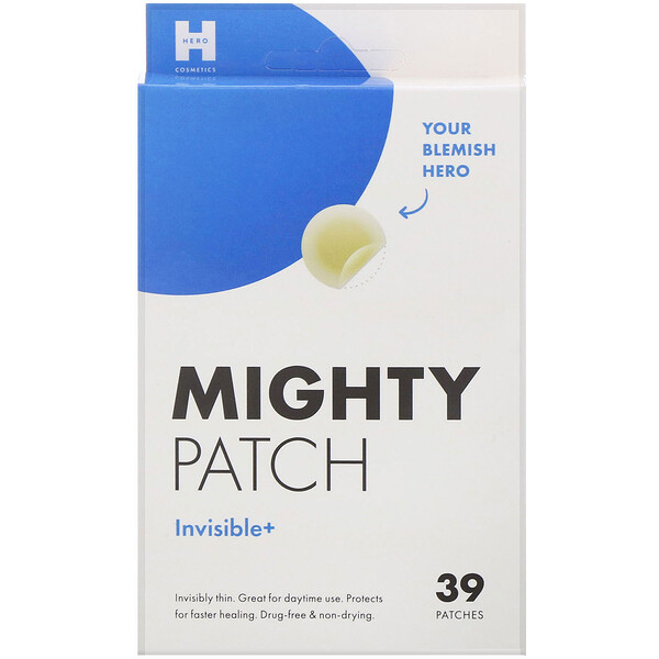 Hero Cosmetics, Mighty Patch, Invisible+, 39 Patches