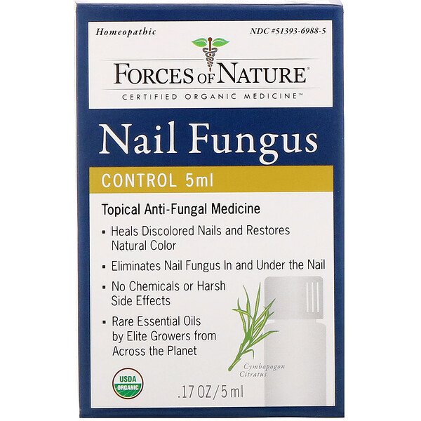 Forces of Nature, Nail Fungus Control, 0.17 oz (5 ml)