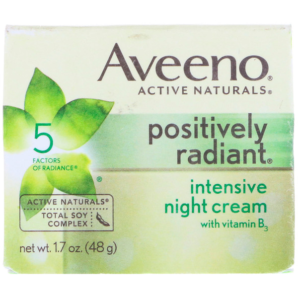Aveeno, Active Naturals, Positively Radiant, Intensive Night Cream, 1.7 oz (48 g)
