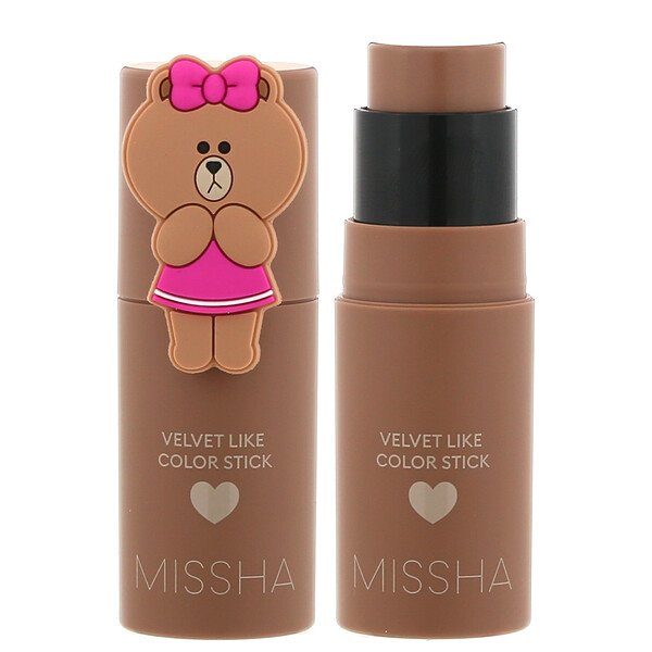 Missha, Line Friends Edition, Velvet Like Color Stick, Sepia Filter, 0.24 oz (7 g)