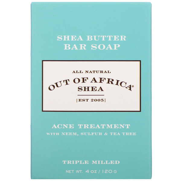 Out of Africa, Shea Butter Bar Soap, Acne Treatment, 4 oz (120 g)