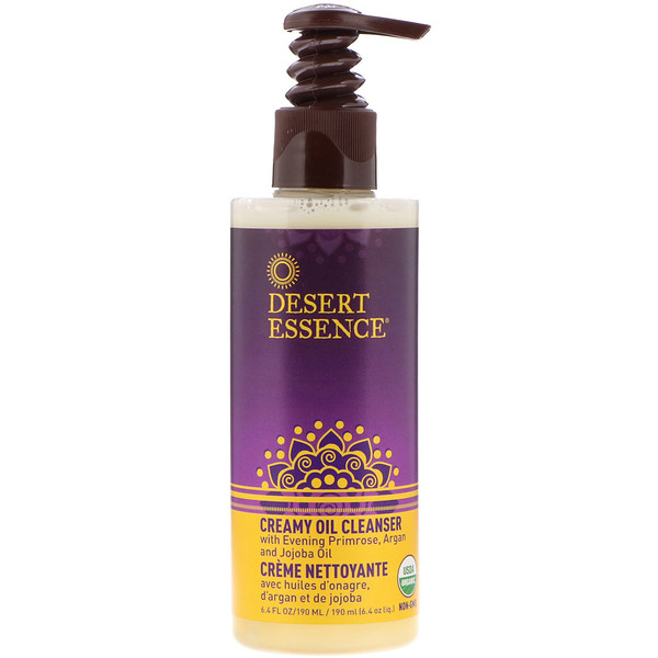 Desert Essence, Creamy Oil Cleanser, 6.4 fl oz (190 ml)