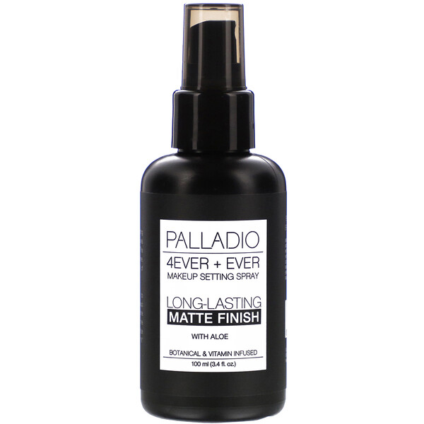 Palladio, 4Ever + Ever Makeup Setting Spray, Long-Lasting Matte Finish, 3.4 fl oz (100 ml)