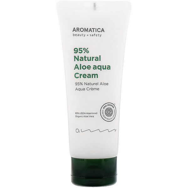 Aromatica, 95% Natural Aloe Aqua Cream, 5.2 oz (150 g)