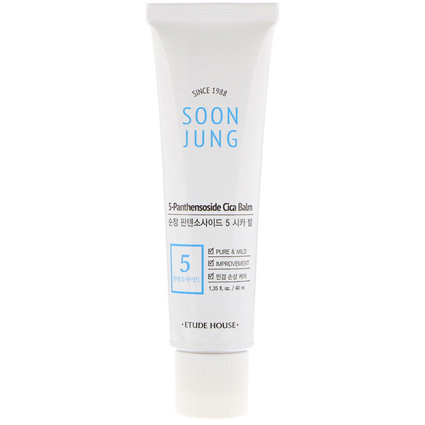 Etude House, Soon Jung, 5-Panthensoside Cica Balm, 1.35 fl oz (40 ml)