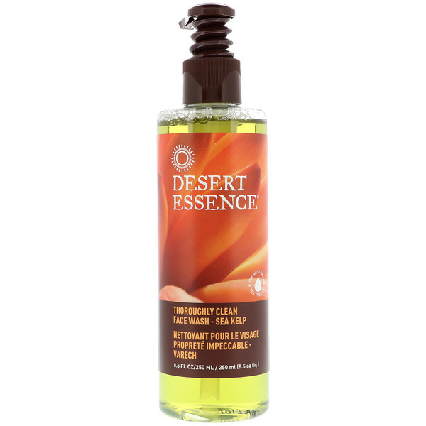 Desert Essence, Thoroughly Clean Face Wash, Sea Kelp, 8.5 fl oz (250 ml)